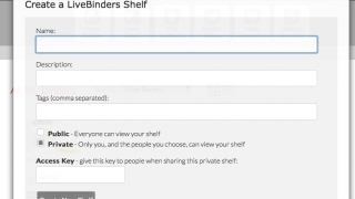 Users can create a shelf to organize and share binders.