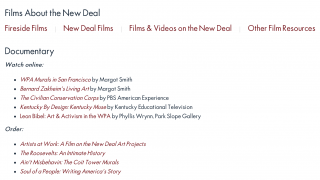 There are tons of related resources, including links to additional films about the New Deal.