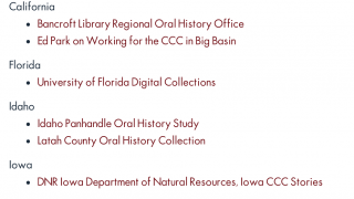 There are also links to additional primary sources.