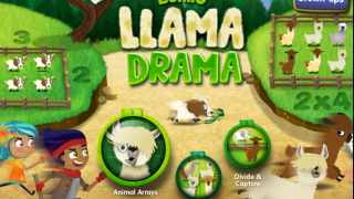 Llama Drama: Lumio Multiplication teaches kids about multiplication and division.