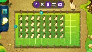 Arrays help kids understand what it means to multiply.