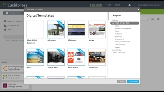 Tons of templates get users started.
