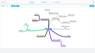 Start by generating ideas with the built-in mind map tool.