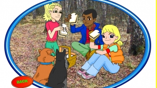 Maggie and her friends eat caviar sandwiches and learn about Borok, Russia.