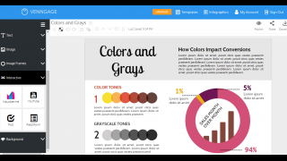 Other design options let users add interactive features to the infographic.