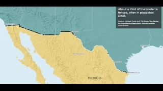 This map shows the U.S.-Mexico border.