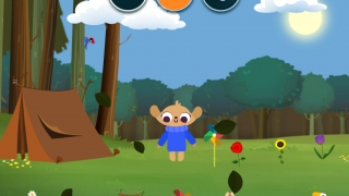 Kids can explore weather with adorable characters and a colorful world of interactive graphics.