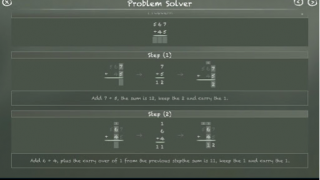 When students get stuck, they can view step-by-step instruction on solving the problem.