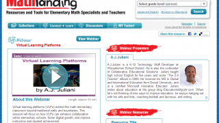 Webinar presented by an experienced math teacher addresses how VLPs, virtual learning platforms, can extend learning.