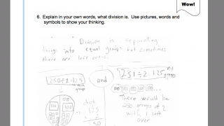 Sample student responses are included along with topic assessments and rubrics, allowing teachers to consider various levels of math reasoning.