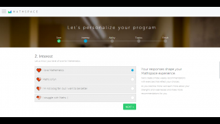 Mathspace personalizes assignments based on students' ability and interest level.