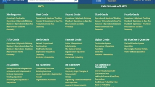 The site is well-organized, with links to specific standards.