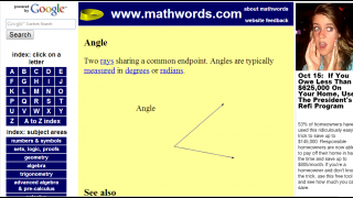 Angle definition is formally accurate but lacks visual cues to identify the space physically.