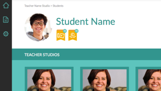 """Teachers collect students' work in their own """"Studios."""""""