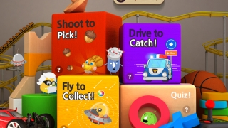 Kids can apply learning by playing mini-games and completing quizzes.