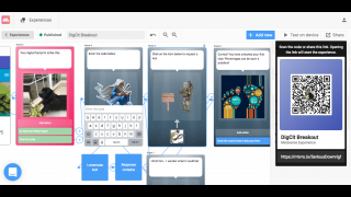 Design augmented-reality activities with a storyboard-like platform.