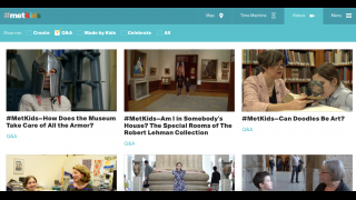Excellent videos feature kids interviewing museum staff about kid-friendly topics.