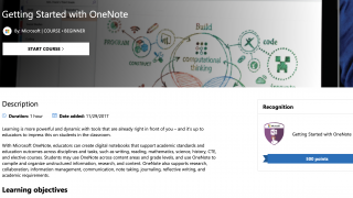 Some learning paths focus on a specific tool like Microsoft OneNote.