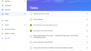 See all planned tasks in one list.