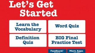 Students first study the vocabulary, then take a quiz and, finally, the big test.