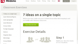Mindomo Classroom offers ideas for mind map use during school time.