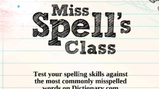 Challenge friends to a spelling match.
