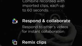 The Quick Tour offers detailed, picture-based, in-app support for creating videos, responding, collaborating, and remixing clips with other MixBit users.