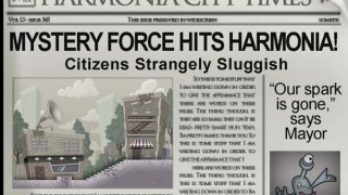 Newspaper articles help advance the story.