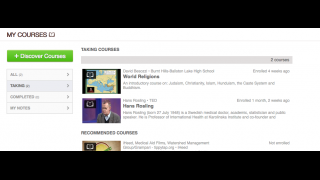 Mobento's dashboard helps the user remember what has and hasn't been watched and suggests future videos.