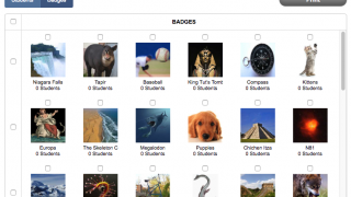 Select, edit, and create badges for your students.