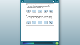 Question options include multiple choice, short answer, drag and drop, and more.