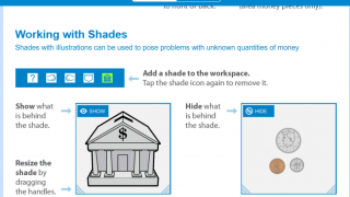 There's information for working with shades.