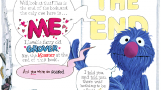 "Kids laugh and Grover is so relieved when he finds the ""monster"" is really himself!"