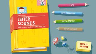 Young kids experience and explore letter sounds through classic Montessori-style activities.