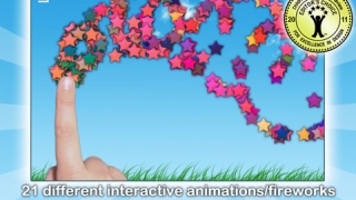 Kids can play some fun interactive graphics as a reward for completing a word.