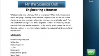 "Each experiment includes a ""steps and materials"" handout."