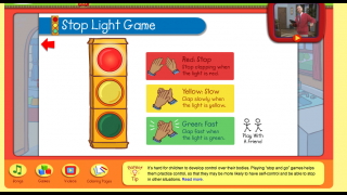 A body movement game that gets kids up and moving around – and learning to control their bodies.