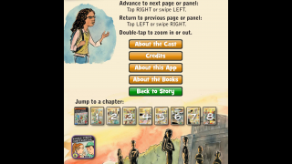 Info page – really the main menu – has icon navigation, a controls tutorial, a section about the app, and other resources.