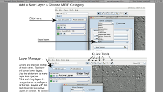 Quick guide for JMARS use helpful, but shows technical details of interfacing with NASA data.