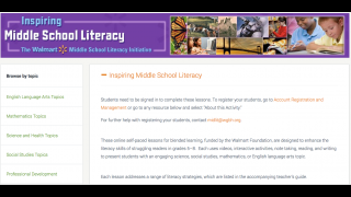 There's an extensive library of self-paced lessons for adolescent readers.