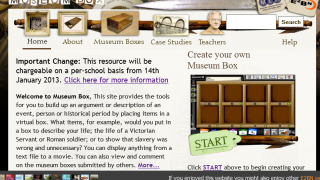 Museumbox's home page: like an attic, a little dusty but filled with great stuff.