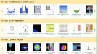 An example of a physics-based simulation.