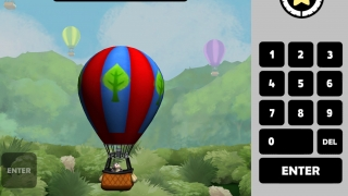 Help the hot air balloon rise by completing the equation correctly.