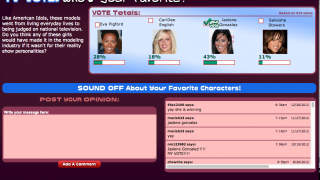 Vote for a favorite TV character and discuss.