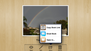 Edit pages as many times as you want, then share via email or on iBooks.
