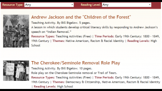 Collection of resources to examine the history of Native Americans.