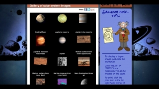 Visual information includes solar system-related galleries.