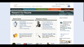 The record research page includes tips on conducting online searches and archival research.
