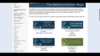 Users can also read several blogs on federal archiving activity and other government-related information.