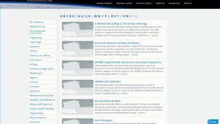 Browse the alphabetized collections.